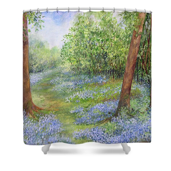 Follow The Bluebells Shower Curtain