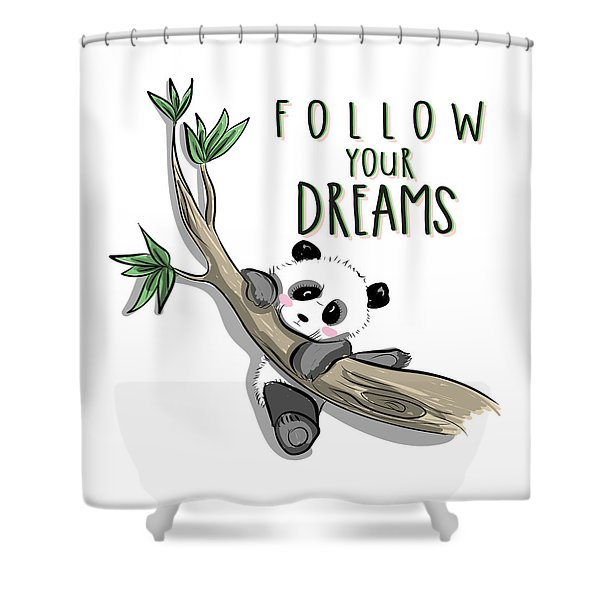 Follow Your Dreams - Baby Room Nursery Art Poster Print Shower Curtain