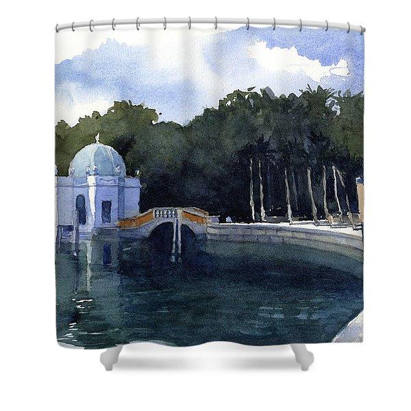Folly At Viscaya Shower Curtain
