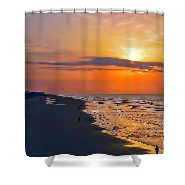Folly Beach Sunrise Shower Curtain