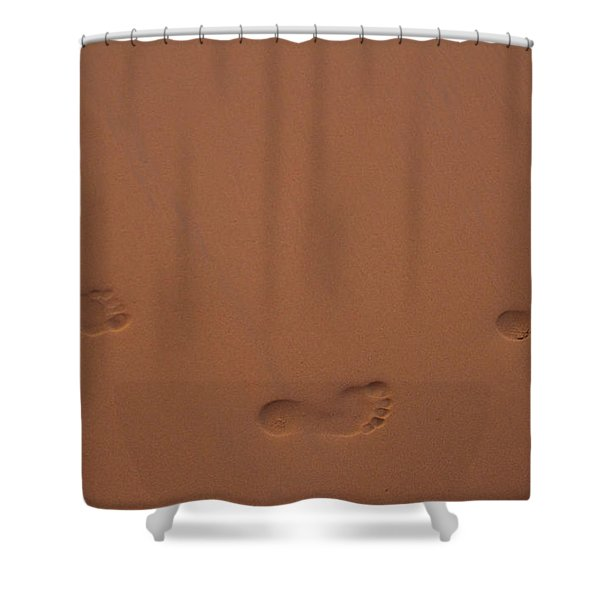 Foot Prints In Sand Shower Curtain
