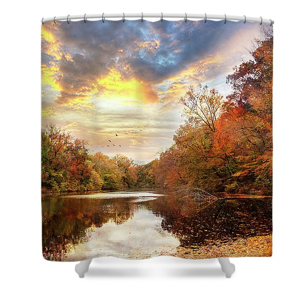 For The Love Of Autumn Shower Curtain