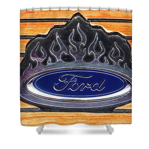 Ford Fire Shower Curtain