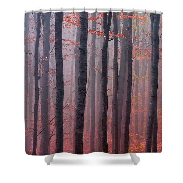Forest Barcode Shower Curtain