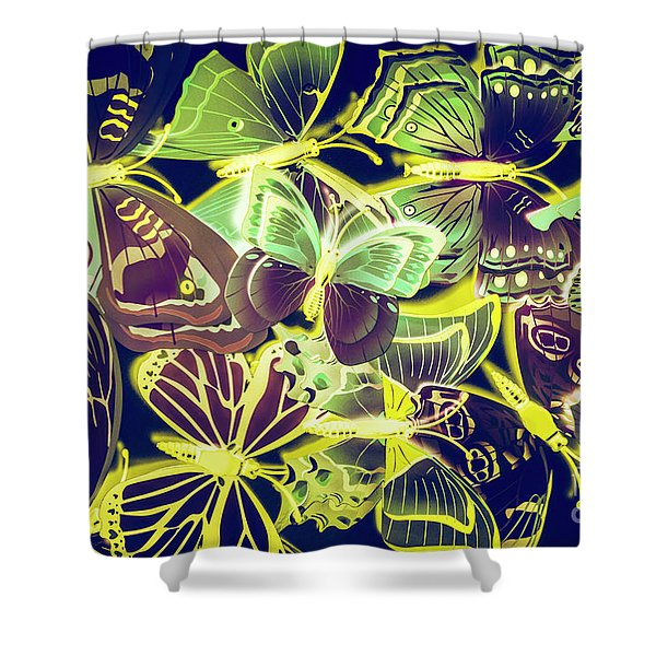 Forest Flutters Shower Curtain