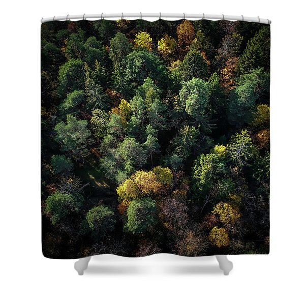 Forest Landscape - Aerial Photography Shower Curtain