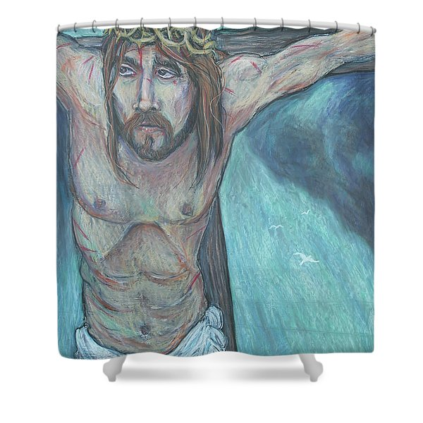 Forgive Them Father  Shower Curtain