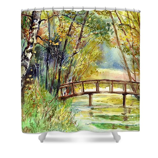 Forgotten Bridge Shower Curtain