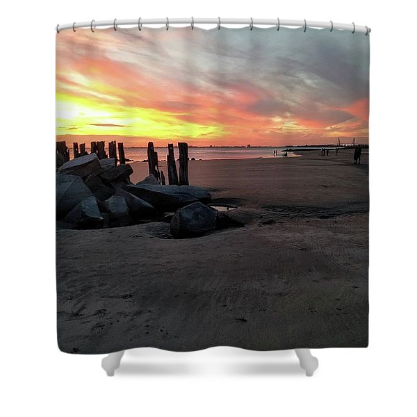 Fort Moultrie Sunset Shower Curtain