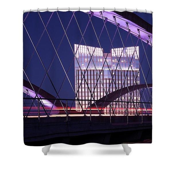 Fort Worth West Seventh Street Bridge V2 021419 Shower Curtain