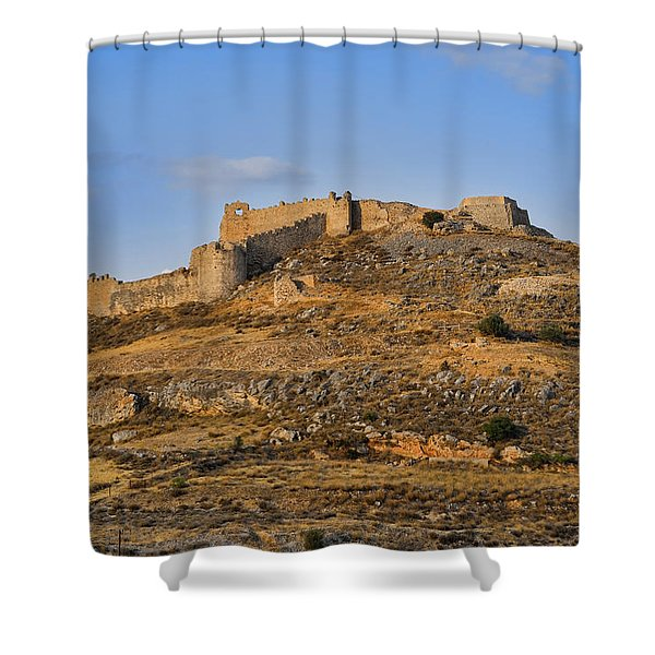 Shower Curtain featuring the photograph Fortress Larissa by Milan Ljubisavljevic