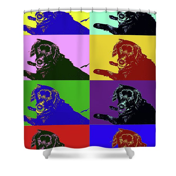 Foster Dog Pop Art Shower Curtain