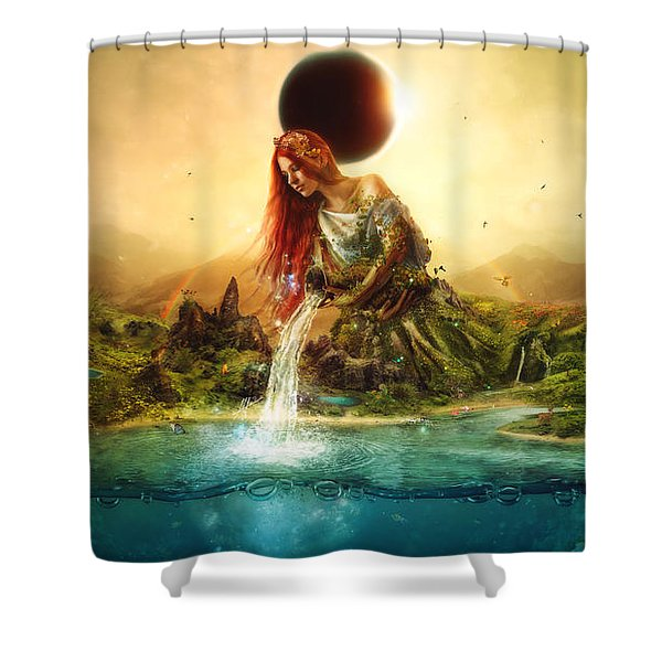 Fountain Of Eternity Shower Curtain