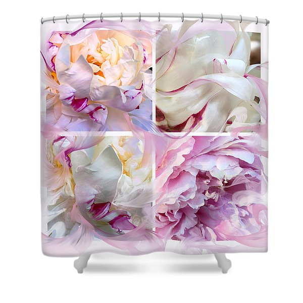Four Peonies  Shower Curtain