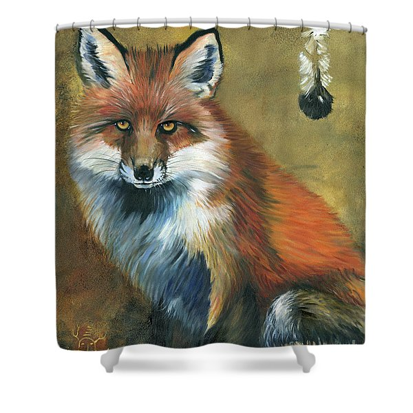 Fox Shows The Way Shower Curtain