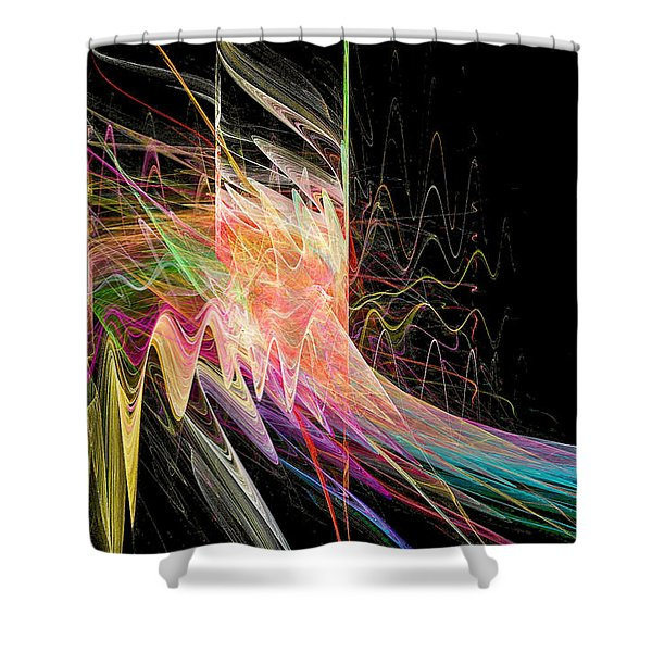 Fractal Beauty Deluxe Colorful Shower Curtain