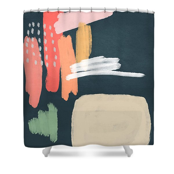 Fragments 2- Art By Linda Woods Shower Curtain