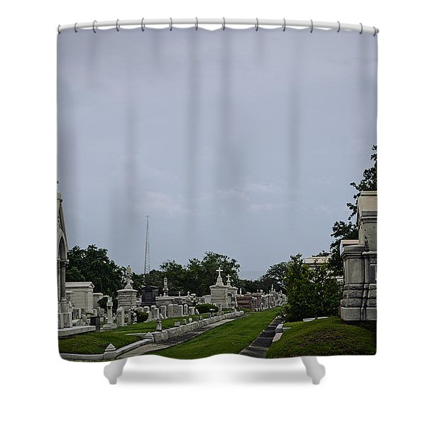 Framed In The Cemetery Shower Curtain