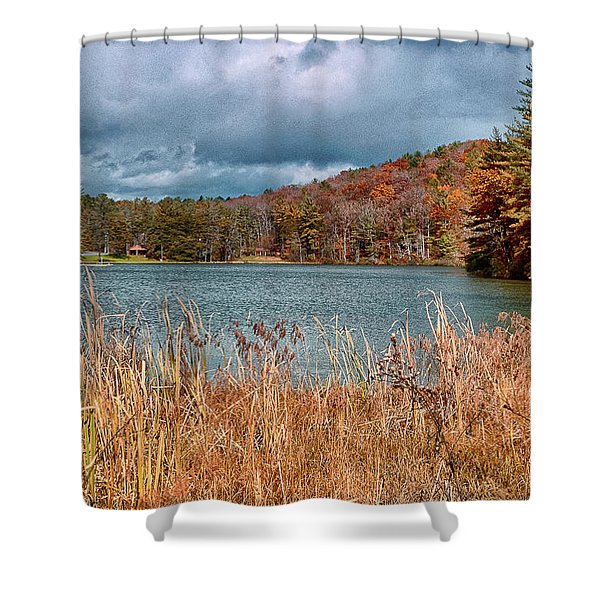 Framed Lake Shower Curtain