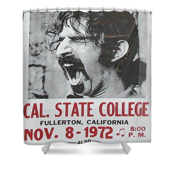 Frank Zappa Alice Cooper 1972 Poster Shower Curtain
