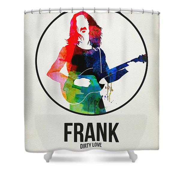 Frank Zappa Watercolor Shower Curtain