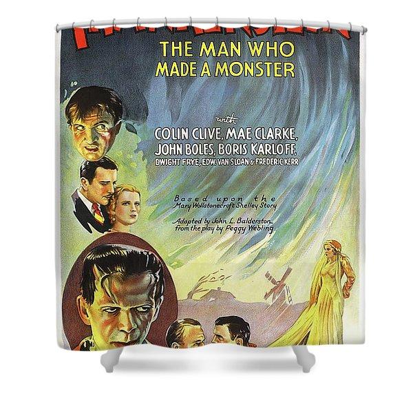Frankenstein Movie Poster Shower Curtain