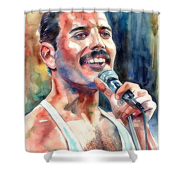 Freddie Mercury Live Aid Shower Curtain