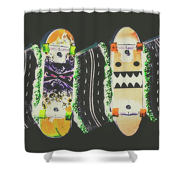 Freestyle Freeway Shower Curtain