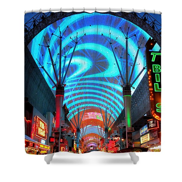 Fremont Street Experience 5 Shower Curtain