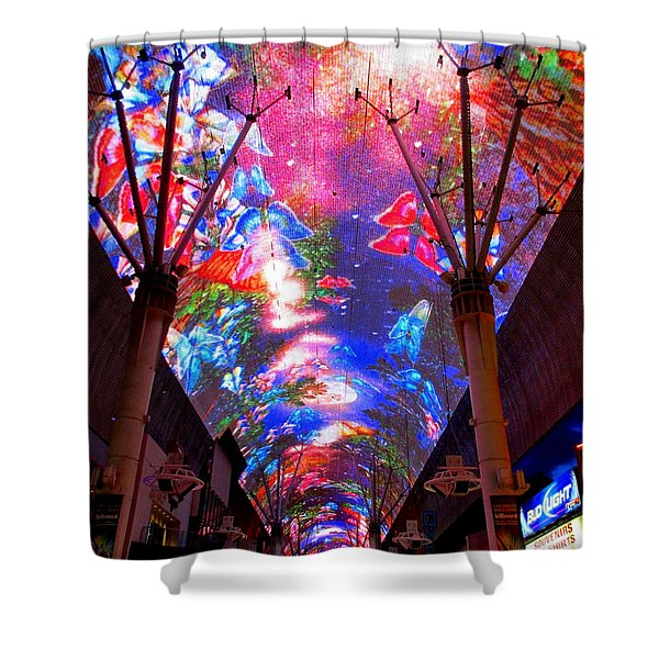 Fremont Street Experience 6 Shower Curtain