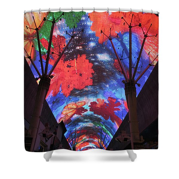 Fremont Street Experience 7 Shower Curtain