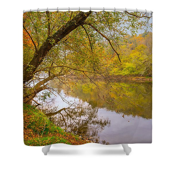 Shower Curtain featuring the photograph French Broad River by Tom Gresham