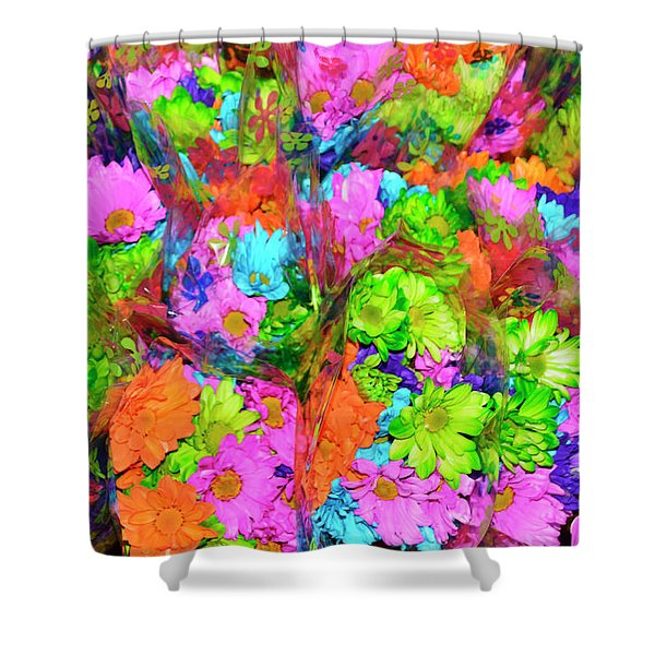 French Floral  Shower Curtain