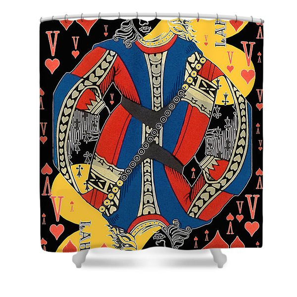 French Playing Card - Lahire, Valet De Coeur, Jack Of Hearts Pop Art - #2 Shower Curtain