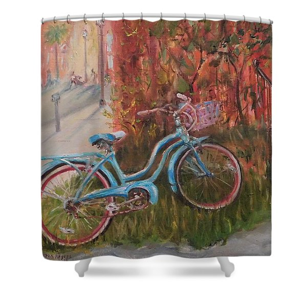 Frequent Flyer Shower Curtain