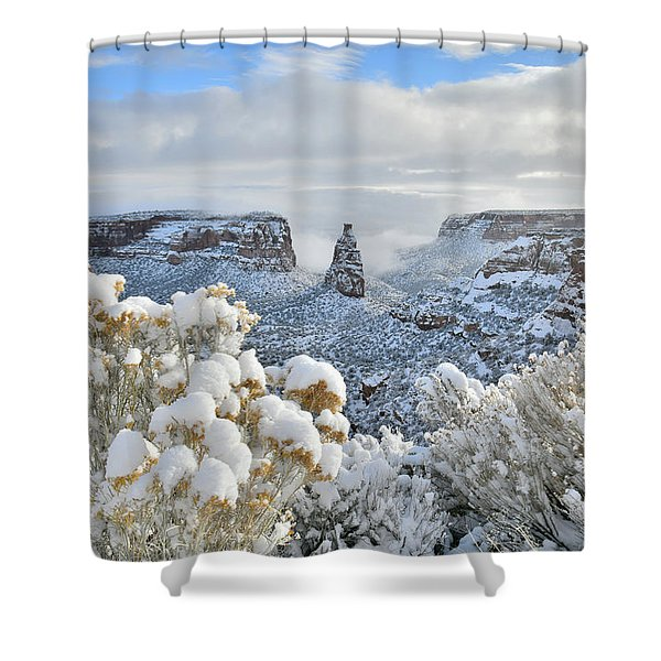 Fresh Snow At Independence Canyon Shower Curtain