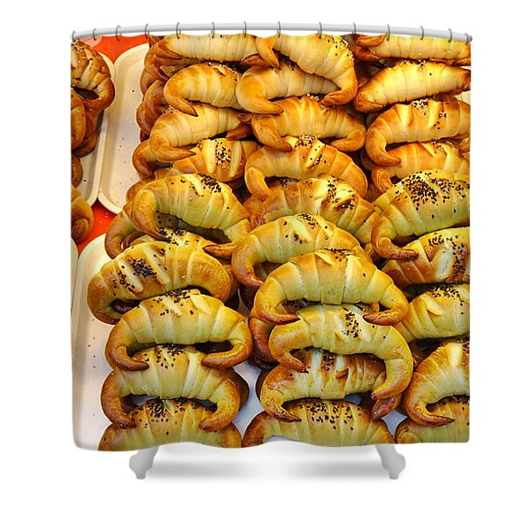 Freshly Baked Croissants Shower Curtain