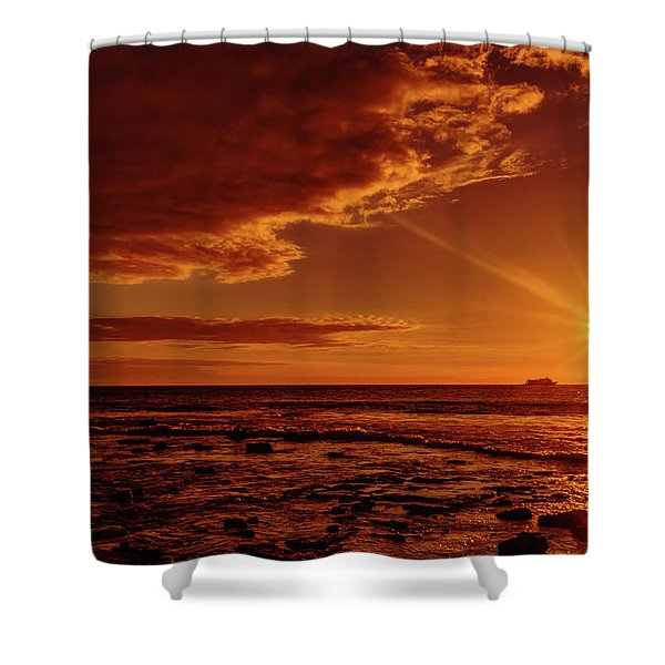 Friday Sunset Shower Curtain