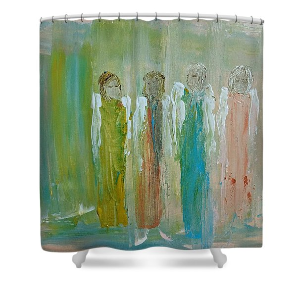 Friendship Angels Shower Curtain