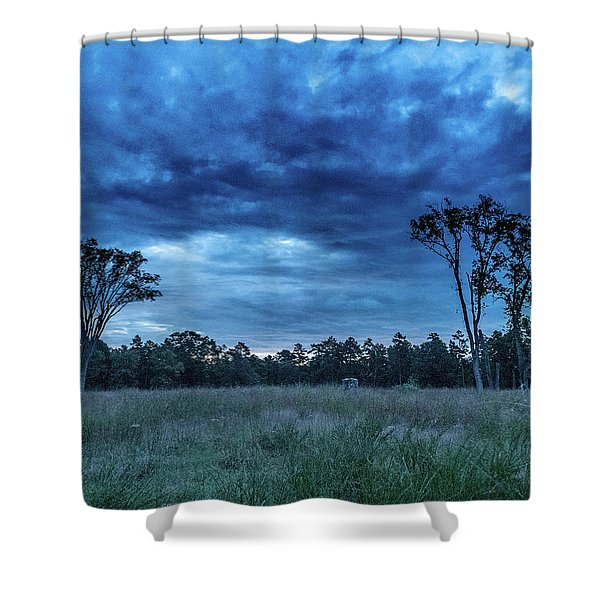 Friendship Blue Hour Sunrise Shower Curtain