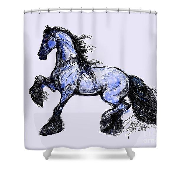 Friesian Mare Shower Curtain