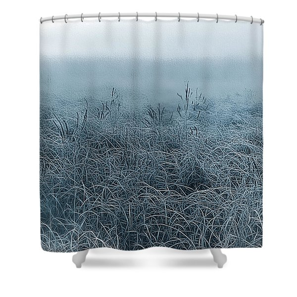 Frigid Morn Shower Curtain