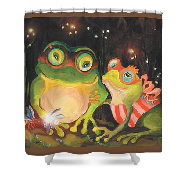 Frogs Of Silver Lake Shower Curtain
