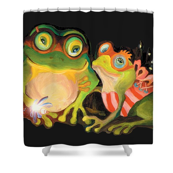 Frogs Overlay  Shower Curtain
