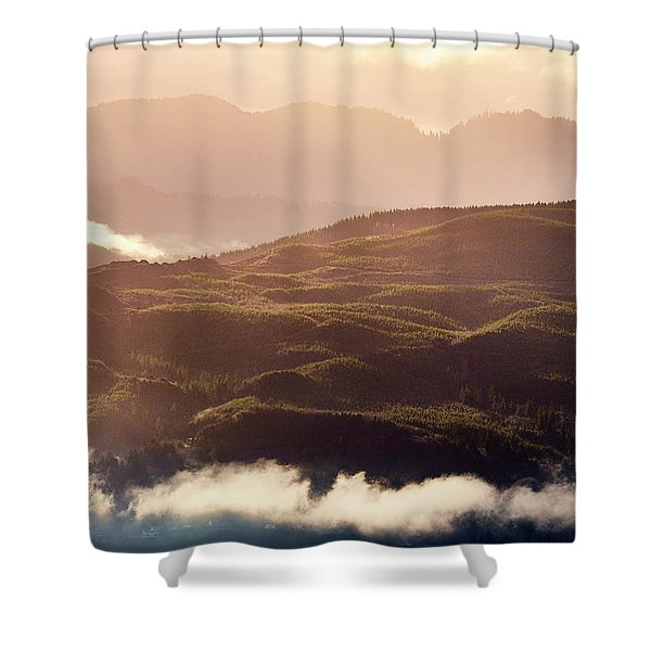 Shower Curtain featuring the photograph From Neahkahnie by Whitney Goodey