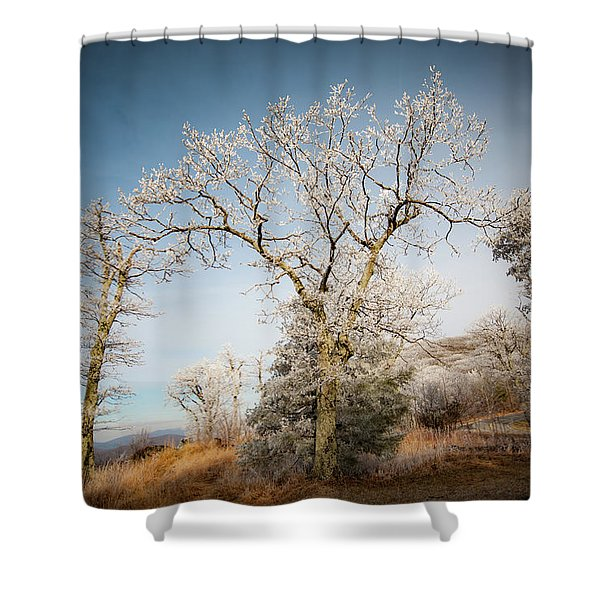 Frost On The Mountain Shower Curtain