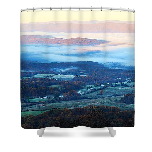 Frosty Autumn Shower Curtain