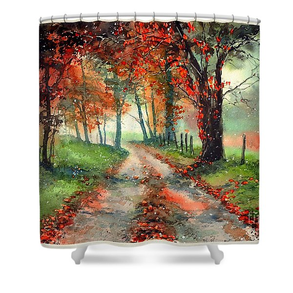 Frosty Autumn Patch Shower Curtain