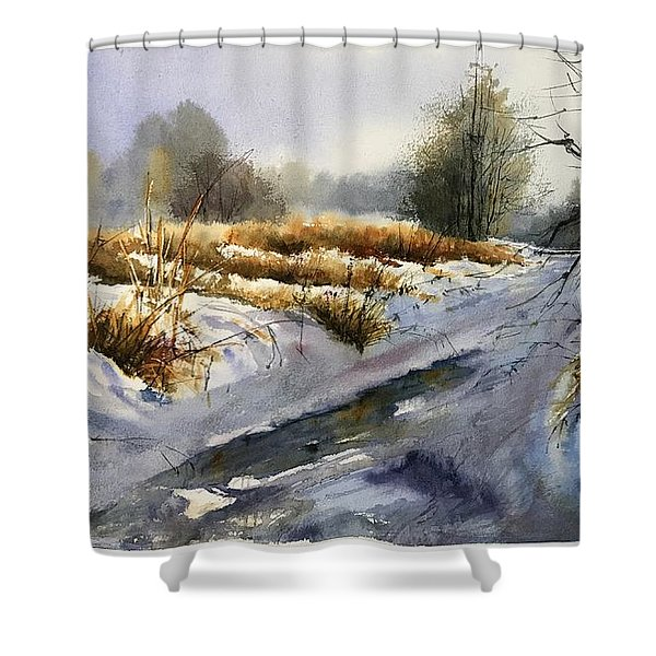 Frozen Brook Shower Curtain