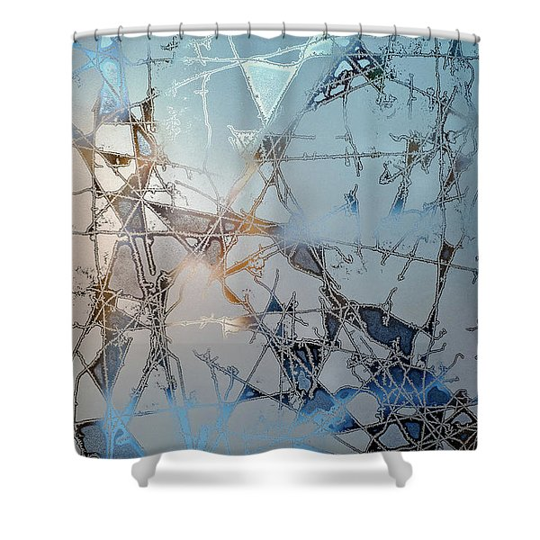 Frozen City Of Ice Shower Curtain